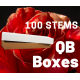 Orange 100 stems QB box